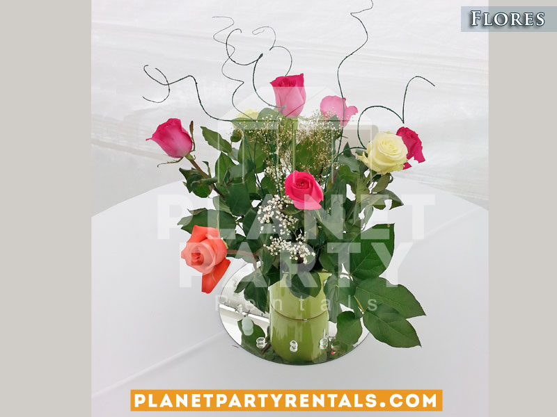 Decoraciones de flores decoraciones de globos flores for Decoracion de pared para quinceanera