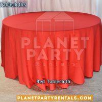Mantel Redondo para Mesa Redonda color Rojo