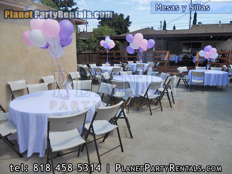 Carpas jumpers sillas mesas para rentar pinatas globos for Manteles para mesas redondas